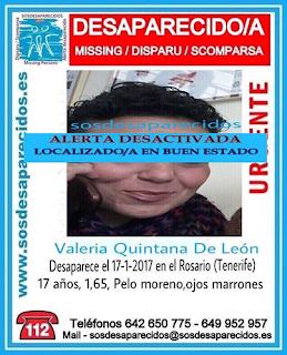 Una joven desaparecida en El Rosario, La esperanza,, Tenerife