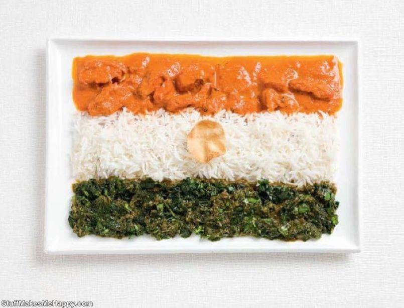 3. India - curry, rice, papadam