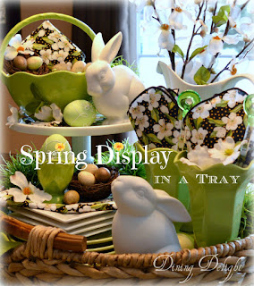 how to design seasonal displays in a tray