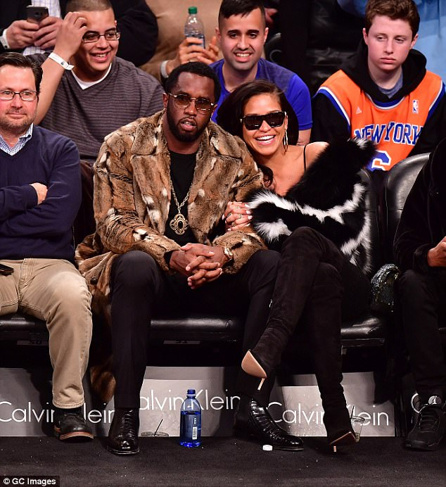 P-Diddy And Cassie All Loved Up At A Basketball Game ...