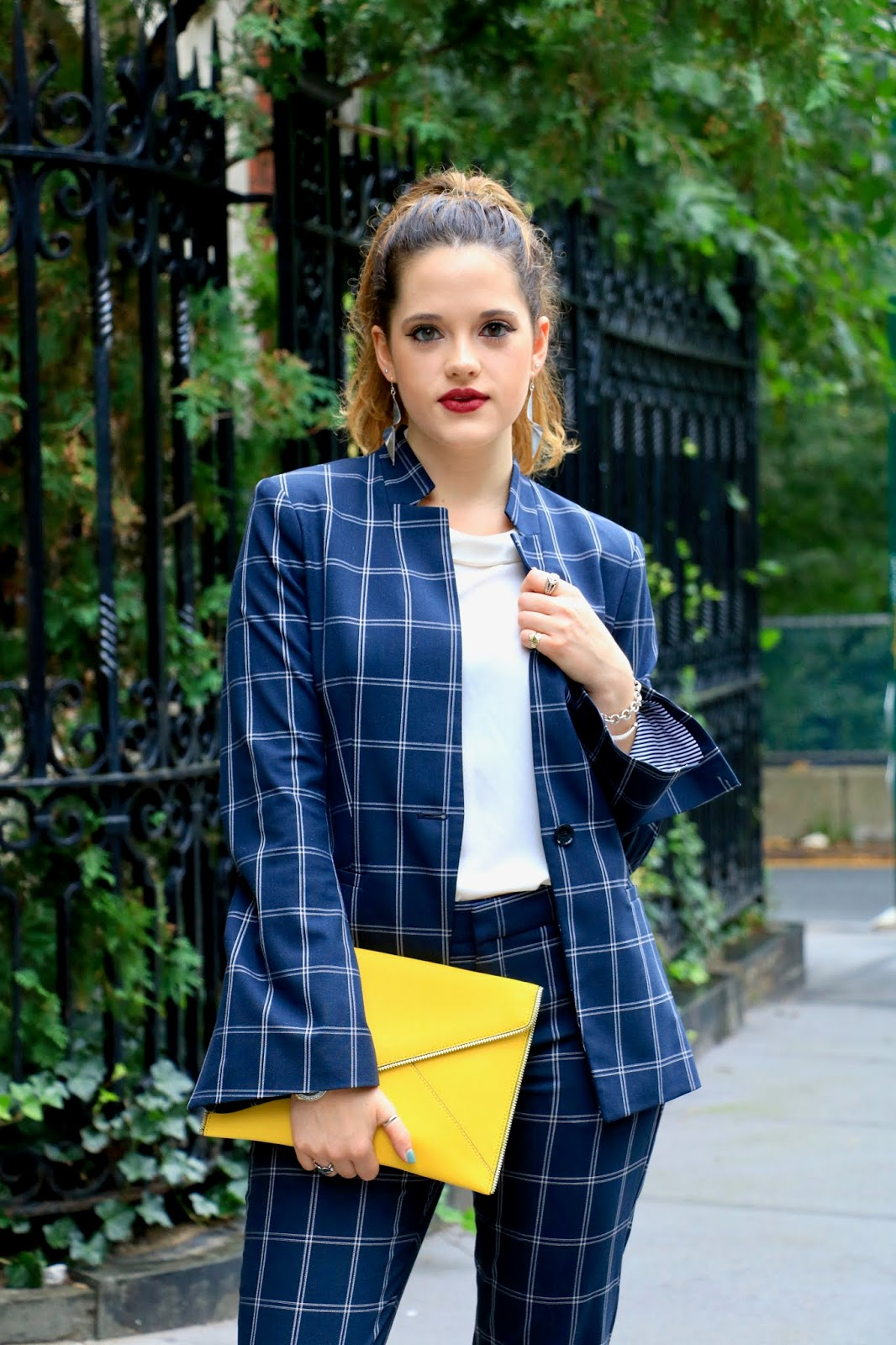 Nyc fashion blogger Kathleen Harper's plaid outfit ideas