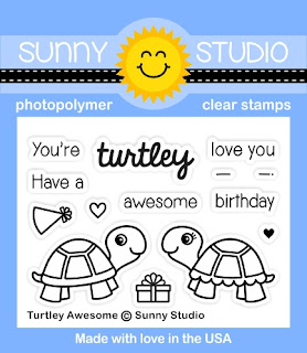 Sunny Studio Stamps: Introducing Turtley Awesome 2x3 Photo-polymer Clear Stamps