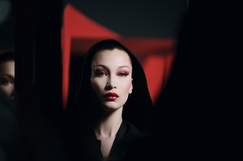 Bella Hadid models a vampy Halloween makeup look from Dior