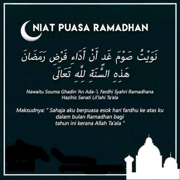 Niat Puasa Ramadan