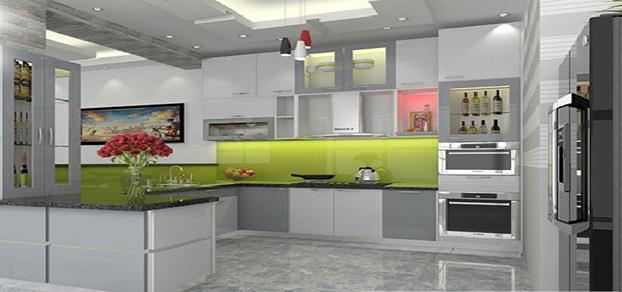 Tủ bếp gỗ Acrylic đem đến phong cách hoàn toàn mới lạ cho gia đình bạn.