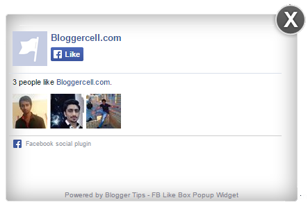 How to Add Facebook Like Box Pop-Up in Blogger Blog