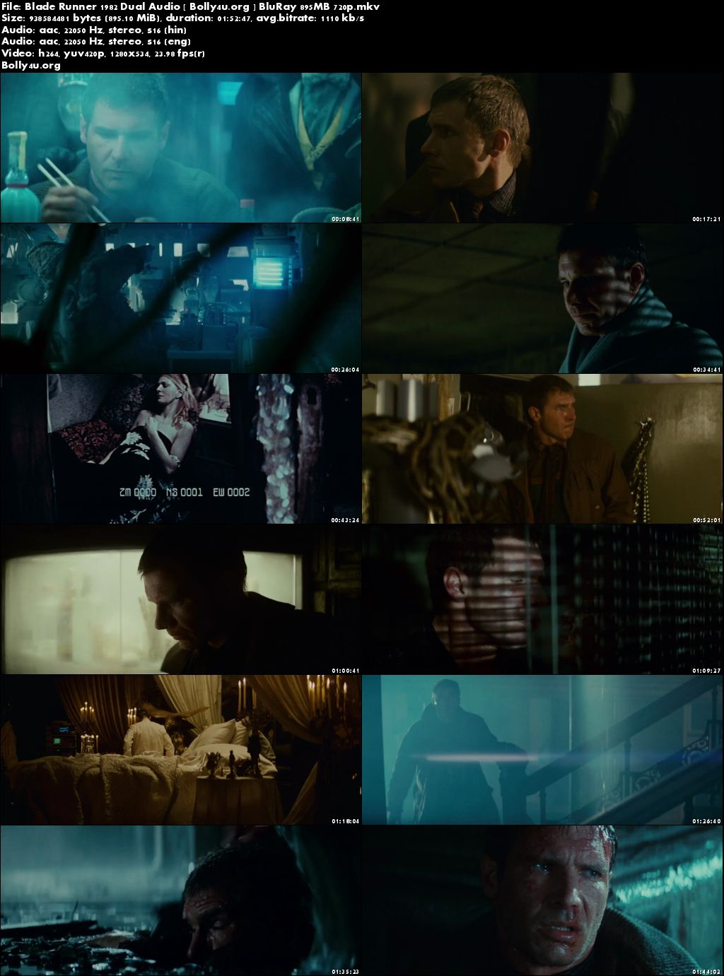 Blade Runner 1982 BRRip 480p Hindi Dual Audio 350MB - photo#23