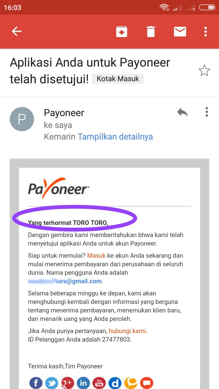 Daftar Paypal Dan Payoneer Dengan Satu Nama Nama Tunggal Tanpa Last Name