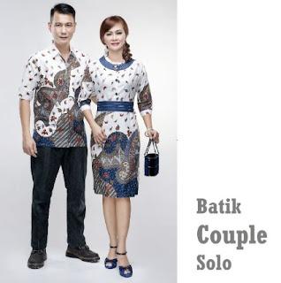 Gambar baju couple batik model rok pendek