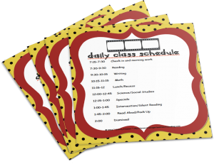 Want a free copy of the Daily Class Schedule?
