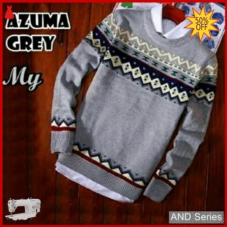 AND267 Sweater Pria Azuma Grey Murah BMGShop