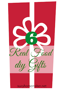 6 real food DIY gifts - suzyhomemaker.net