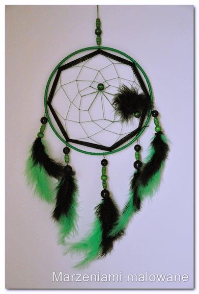 łapacz snów zielono-czarny