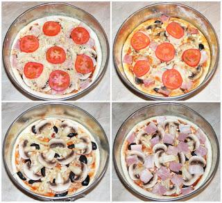 retete pizza de casa cu de toate preparare,