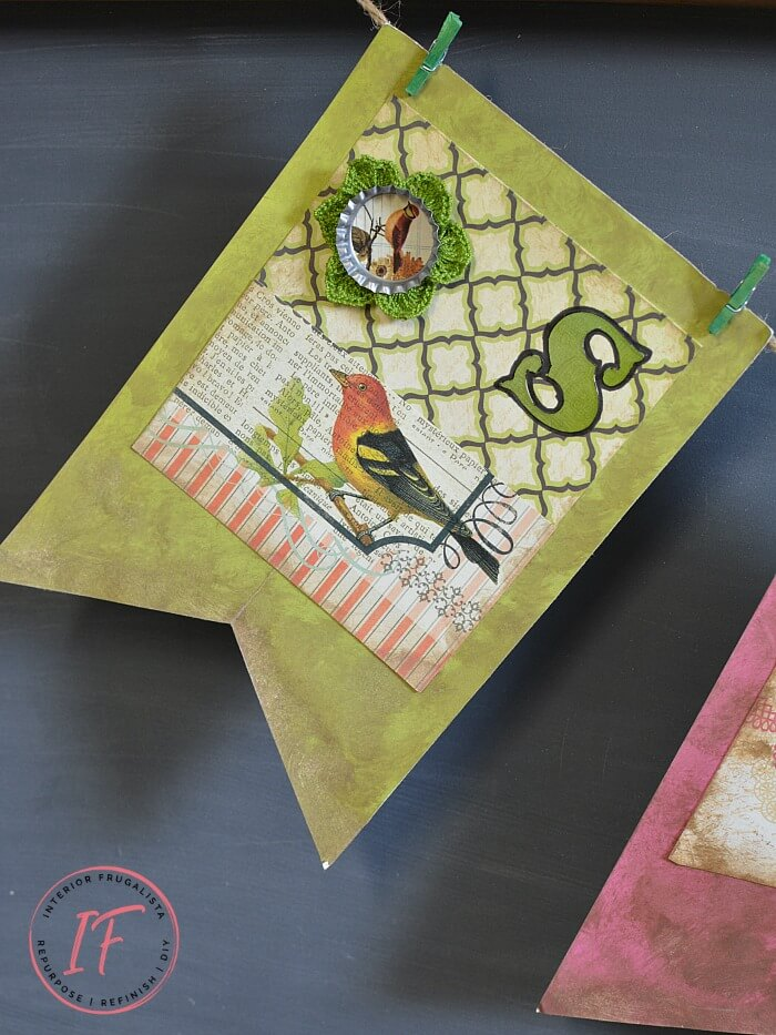 Paper Crafting Dollar Store Spring Banner