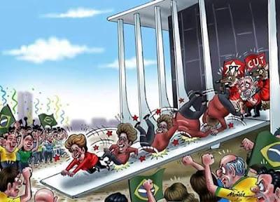 Resultado de imagem para dilma impeachment tchau