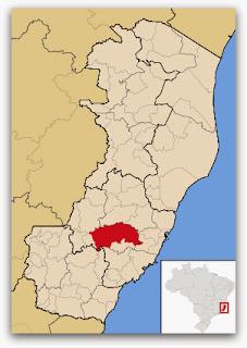 Cidade de Domingos Martins, no mapa do Espírito Santo