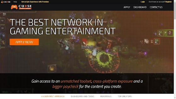 Curse Network is also known as Union For Gamers and it's a really cool YouTube Network