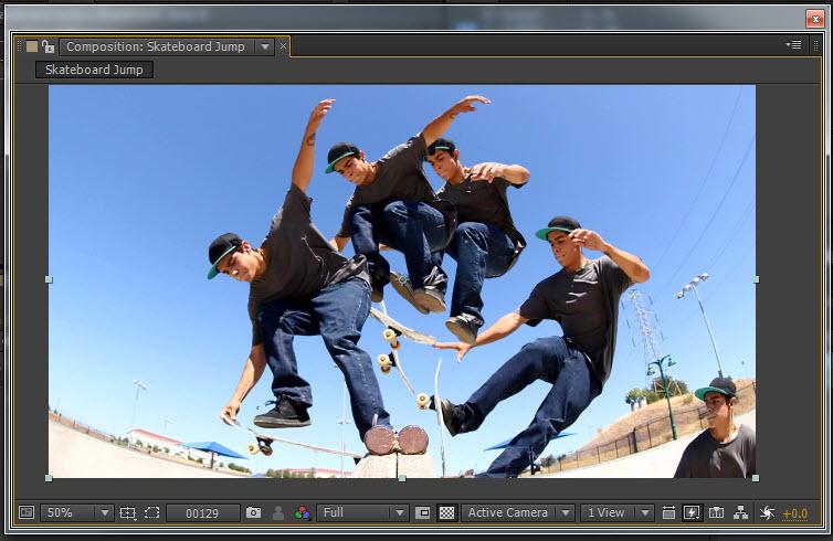 Skateboard Jump 09