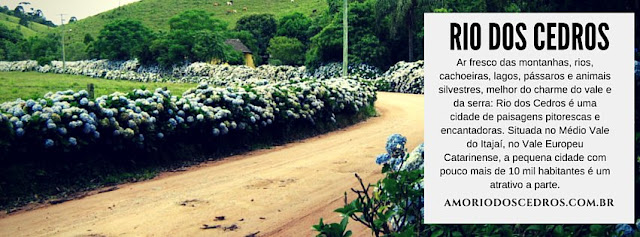 Rio dos Cedros Santa Catarina informações para moradores e visitantes