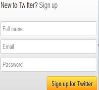 create twitter account
