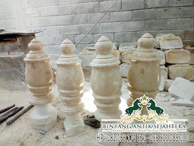 Nisan Marmer Model Mahkota Ukir, Harga Batu Nisan kuburan, Batu Nisan Kuburan Marmer