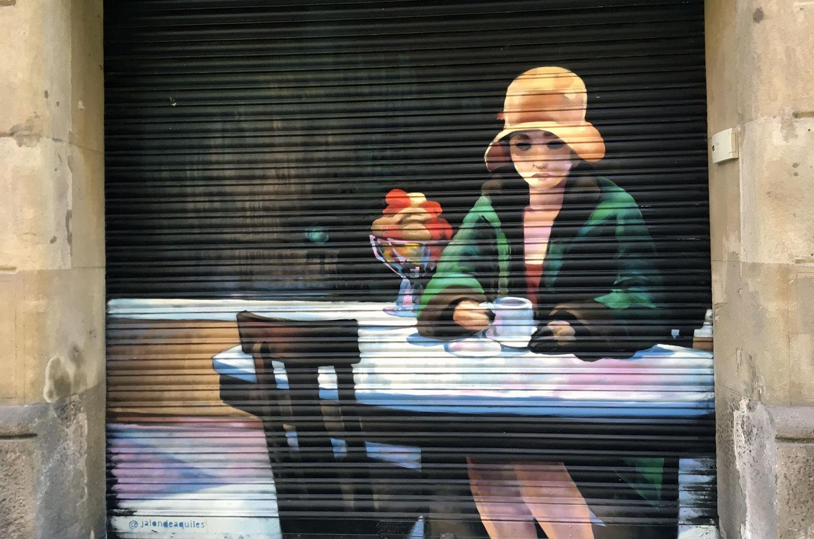 Vado de @jalondeaquiles en calle Enrique Granados, Barcelona