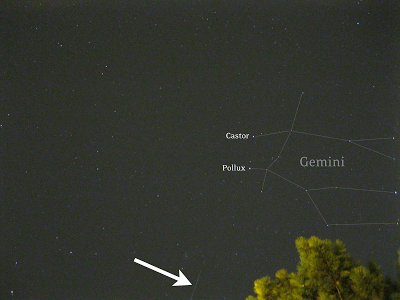 geminid meteor iso 800 with point and shoot