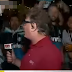 'PEGOU AR': Repórter se irrita com torcedores e abandona transmissão ao vivo