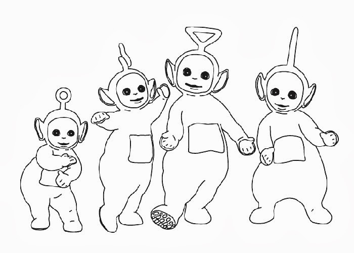 Coloring Pages Online: Teletubbies Coloring Pages | 500x700