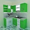 Dekorasi Desain Dapur Minimalis Serba Hijau Terbaru