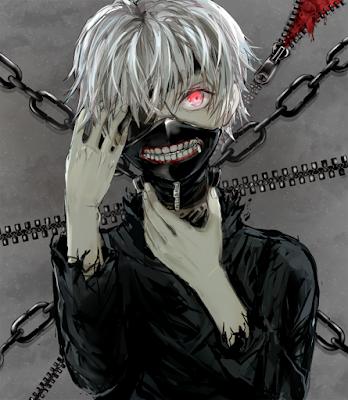 ken kaneki tokyo ghoul masked anime character