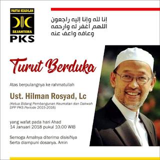 Selamat Jalan Ustadz Hilman Rosyad