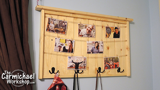 Twine Picture Frame Coat Rack