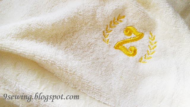 bordir monogram handuk