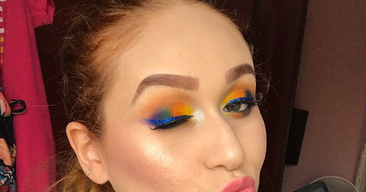 Colorful Make Up feat. Morphe Brushes 35C Full Palette | Makeup Moda Fashion By Raquel