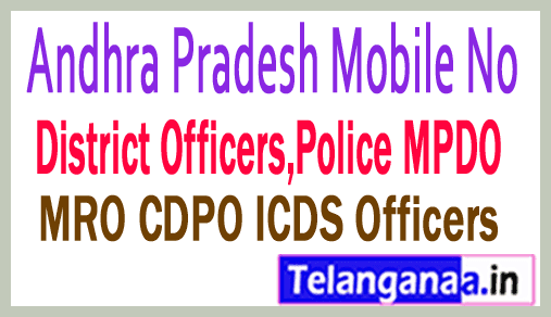 East Godavari District Tahsildar Phone Numbers-Mobile Numbers Andhra Pradesh State