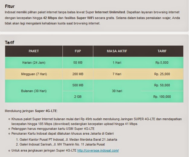 Paket Super Internet Unlimited