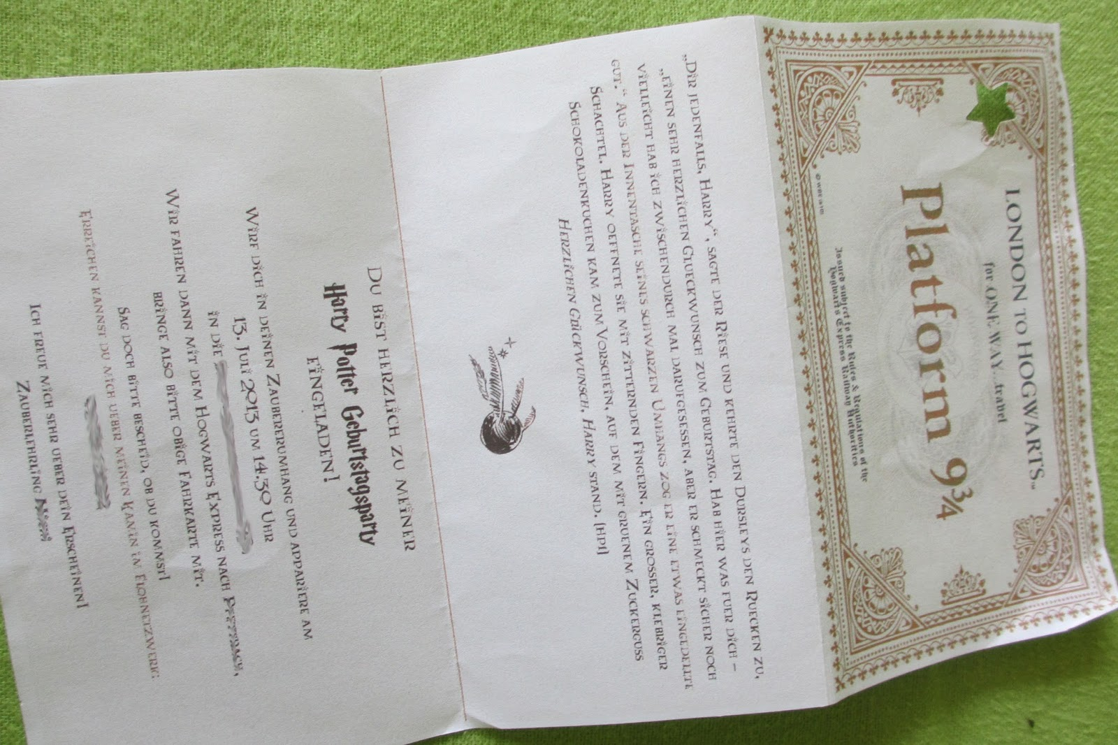 Sonja S Bücherblog Harry Potter Geburtstagsfeier