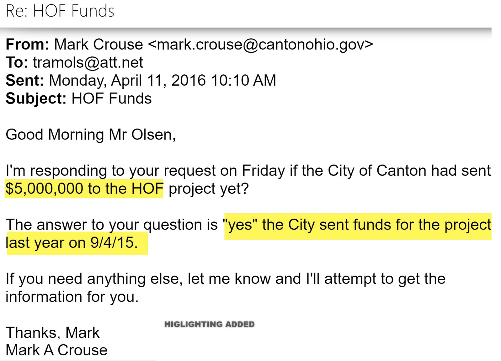 that 5 million in the view of the scpr was pretty much a former mayor william j healy ii aided and abetted by canton city council taxpayer money