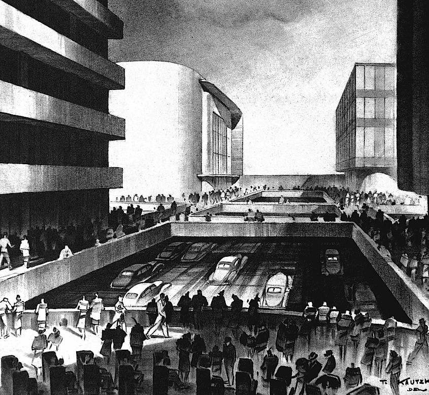 An illustration of Futurama at the 1939 World's Fair