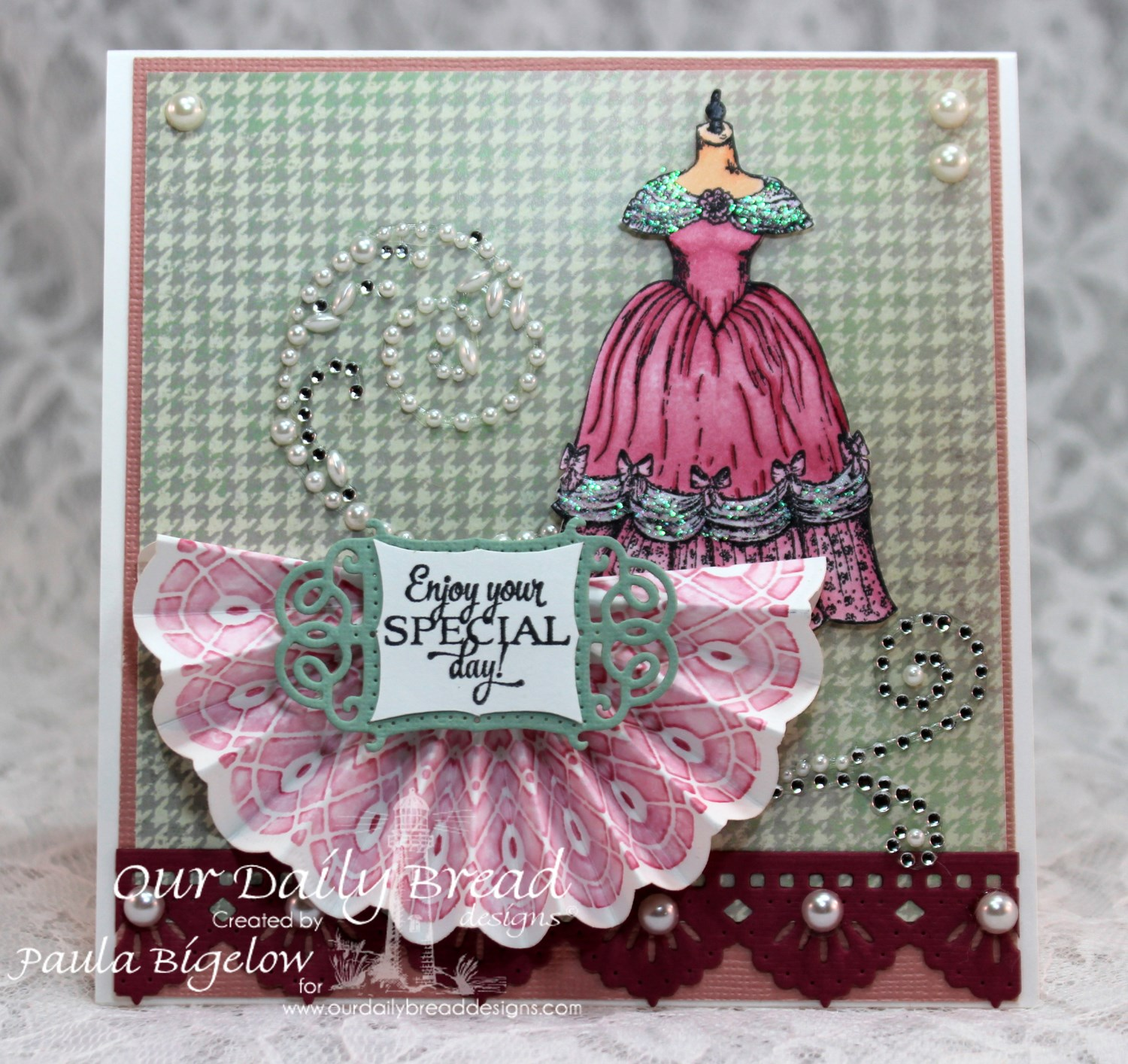 Stamps - Our Daily Bread Designs Birthday Doily, Victoria, ODBD Custom Doily Dies, ODBD Custom Vintage Flourish Dies, ODBD Custom Beautiful Borders Dies, ODBD Soulful Stitches Paper Collection