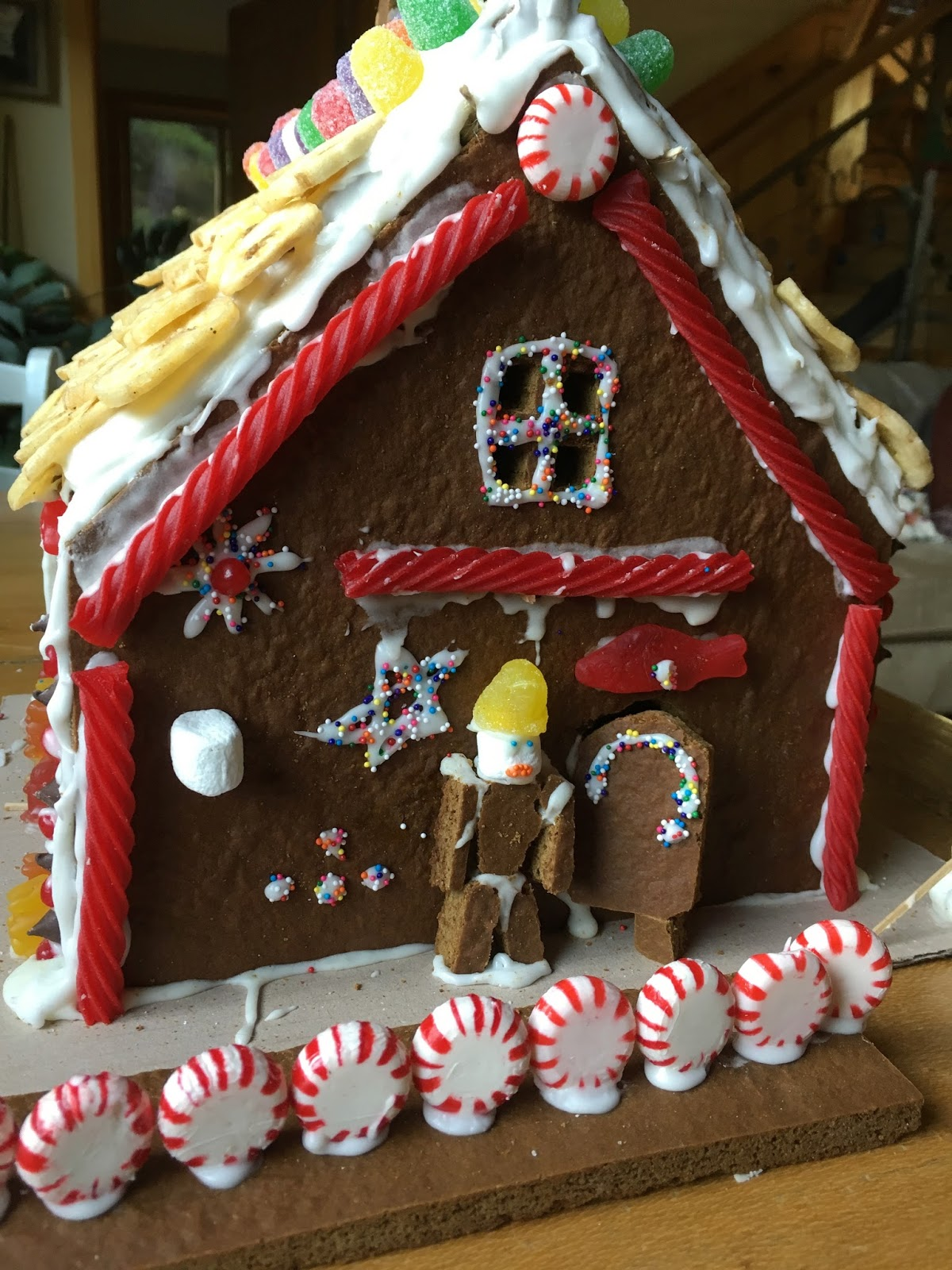 From the Mountains above the Applegate River: Gingerbread House