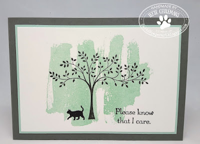 Handmade pet sympathy card with Stampin' Up Hopeful Thoughts