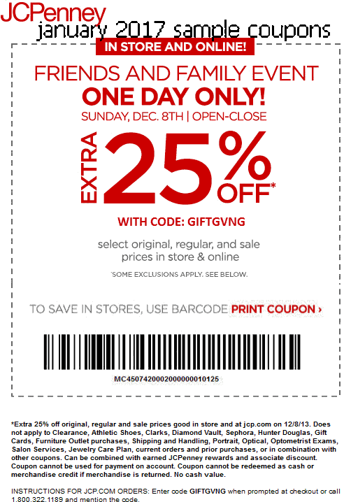 Jcpenney coupon code 2018