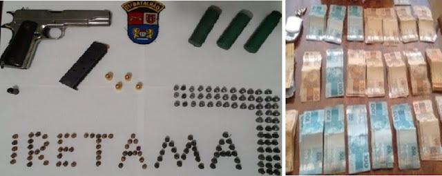 PM de Iretama apreende armas, munições e produtos de furto