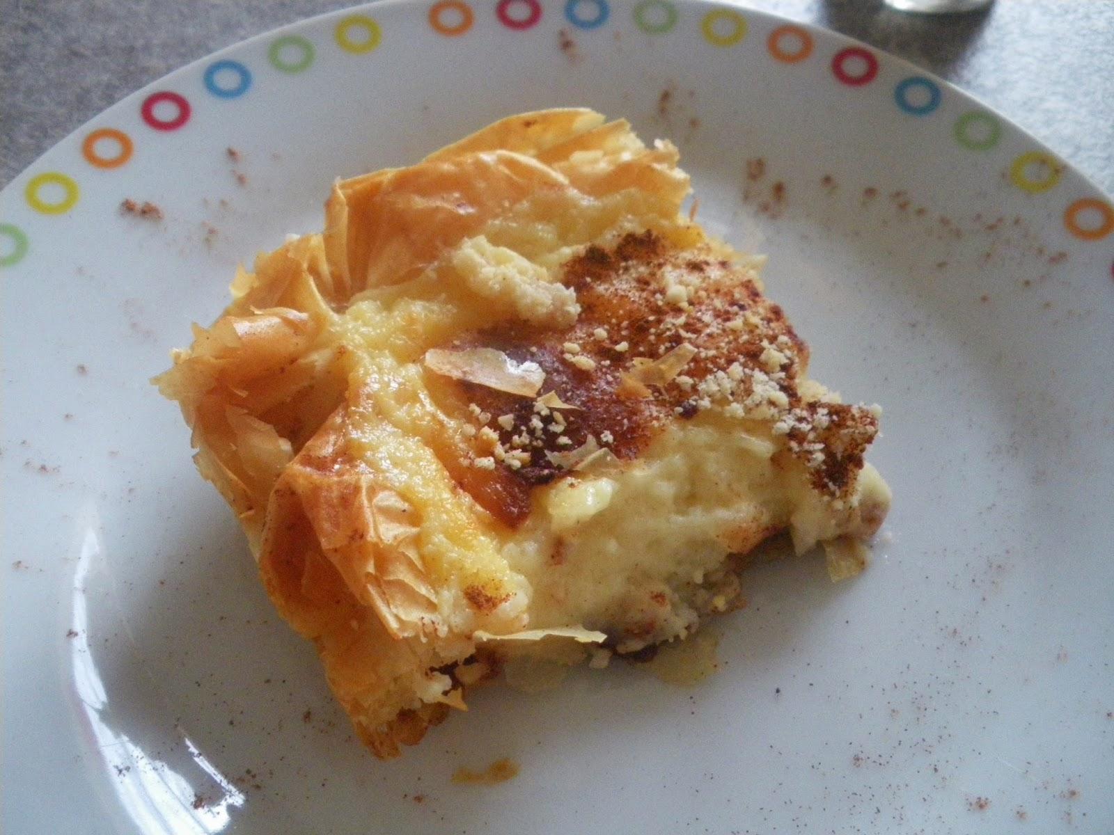 lena s cakes galaktopita g 226 teau grec au lait cannelle semoule et p 226 te filo