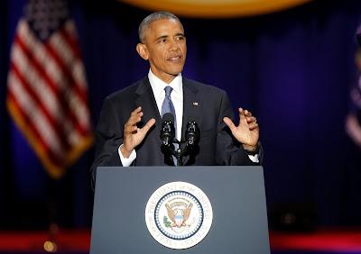 Barack Obama, amerikai elnökválasztás, Donald Trump, Barack Obama utolsó elnöki beszéde, Obama farewell speech. Obama last speech, Obama farewell adress
