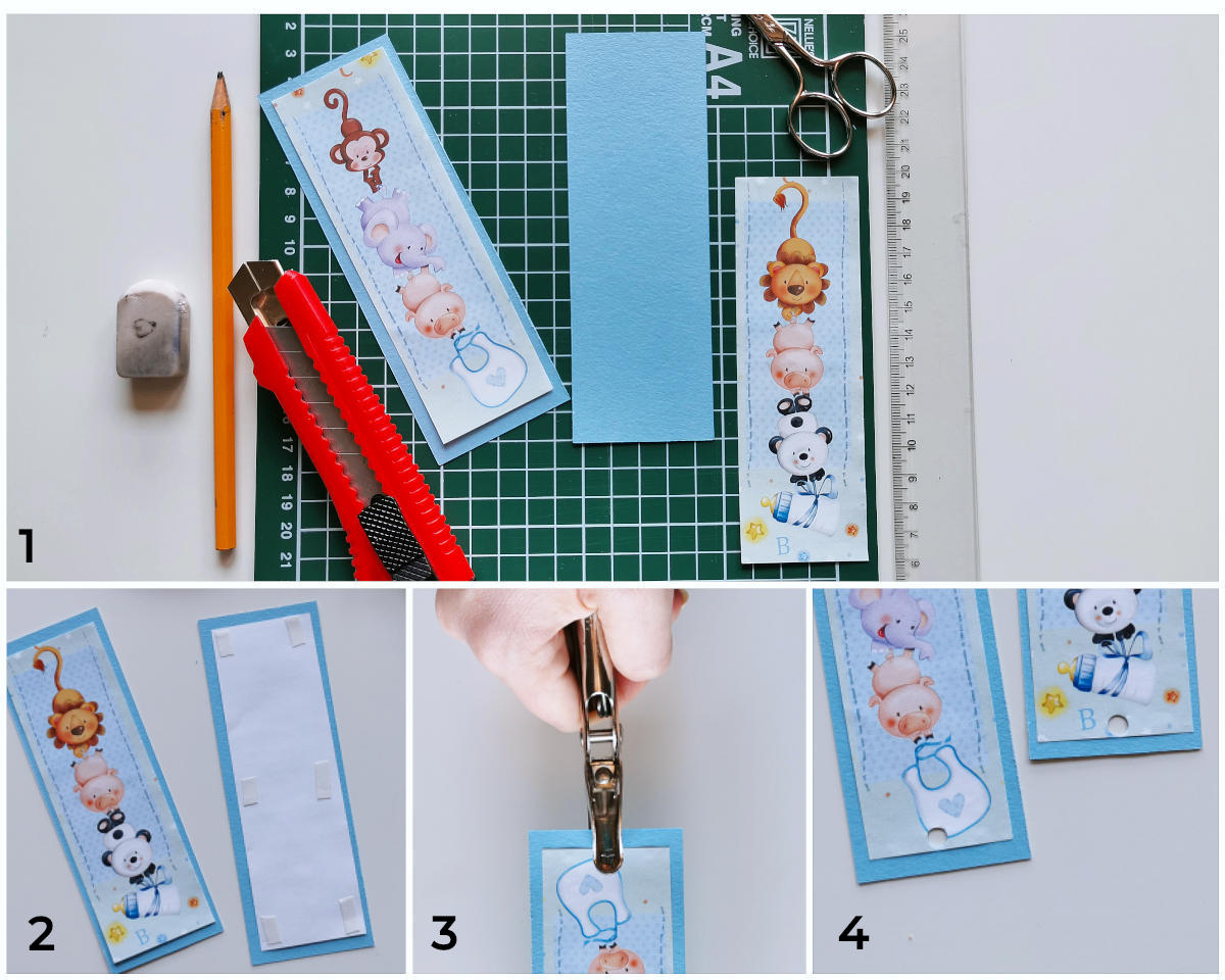 how to make a bookmark cut gift wrap paper
