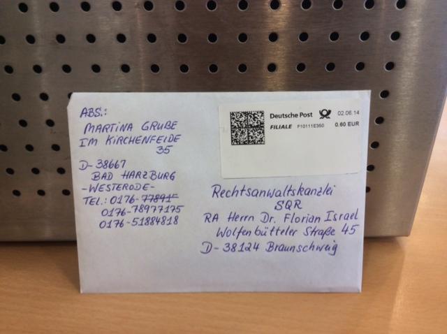 Brief Der Deutschen Post Geht 4 Tage Am Post Schalter Abgeschickt